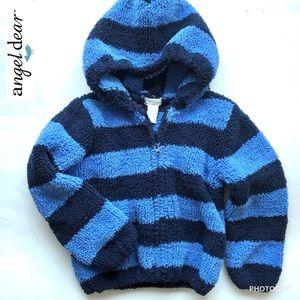 Angel Dear royal/navy chenille hoodie, 2T